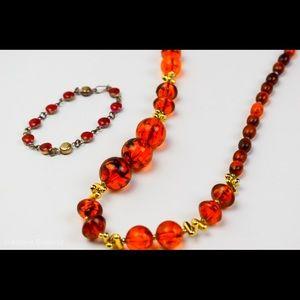 Jewelry - Medium Necklace and small Bracelet